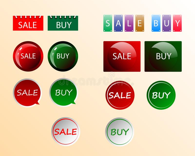 De verkoop en koopt vector illustratie