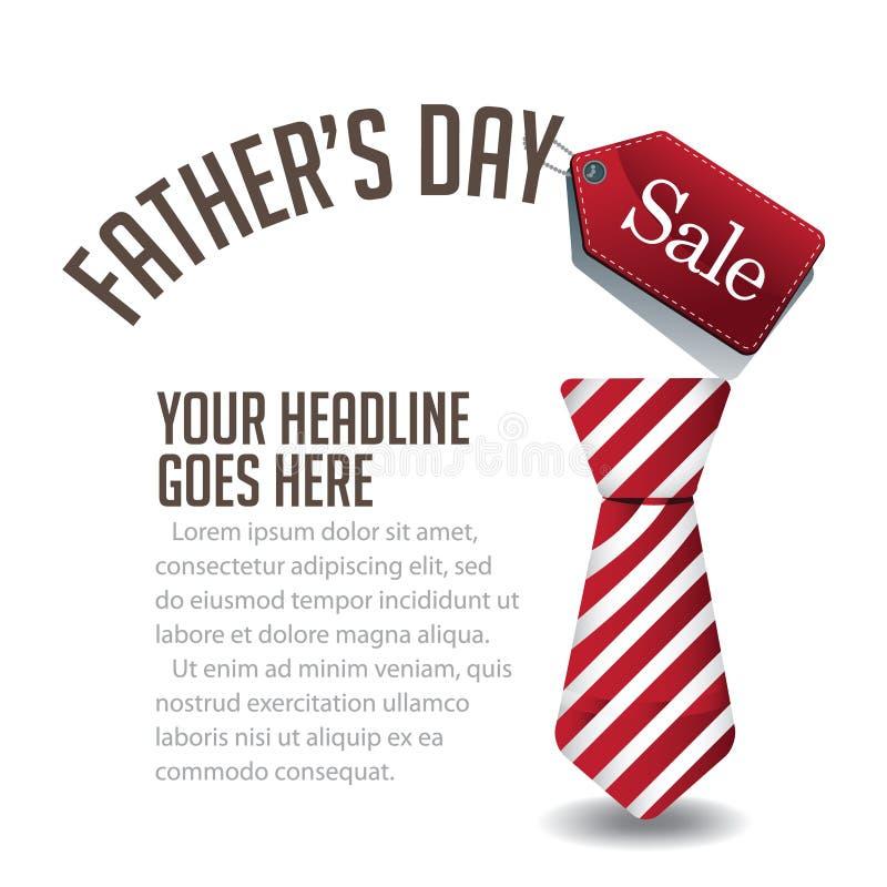 De verkoop van de achtergrond vadersdag EPS 10 vector stock illustratie