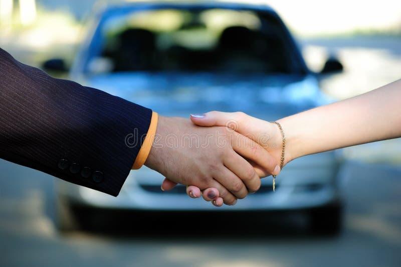 De verkoop van de auto stock foto's