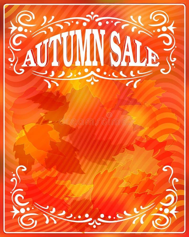 De VERKOOP van de herfst De VERKOOP van Word van rode de herfstbladeren vector illustratie