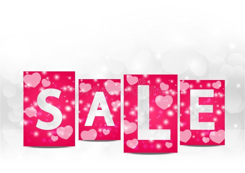 De verkoop van de valentijnskaart royalty-vrije illustratie