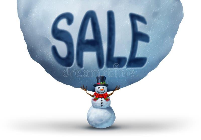 De verkoop van de winter royalty-vrije illustratie