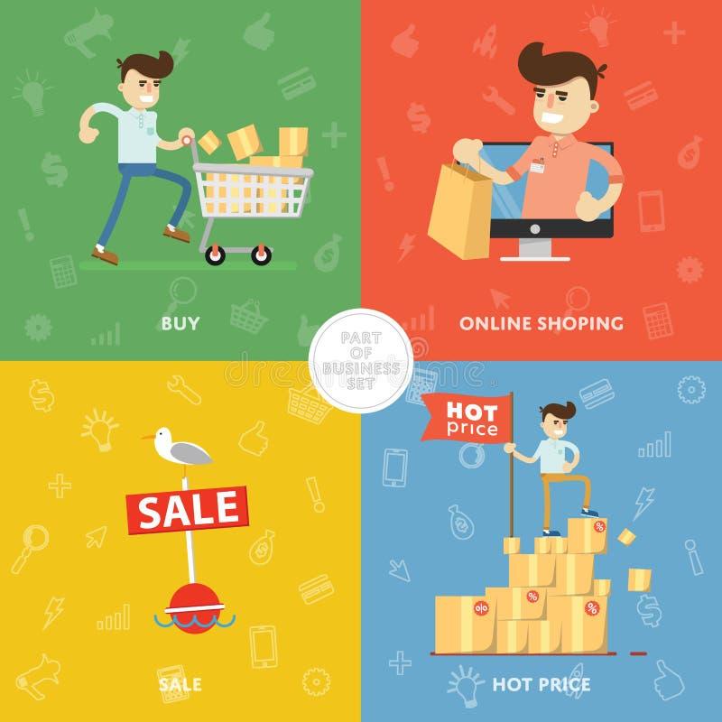 De verkoop van de zomer korting Gift Hete prijs vector illustratie
