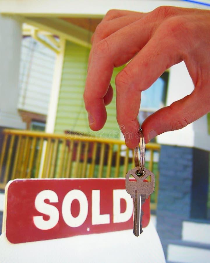 De verkoop van het huis stock fotografie
