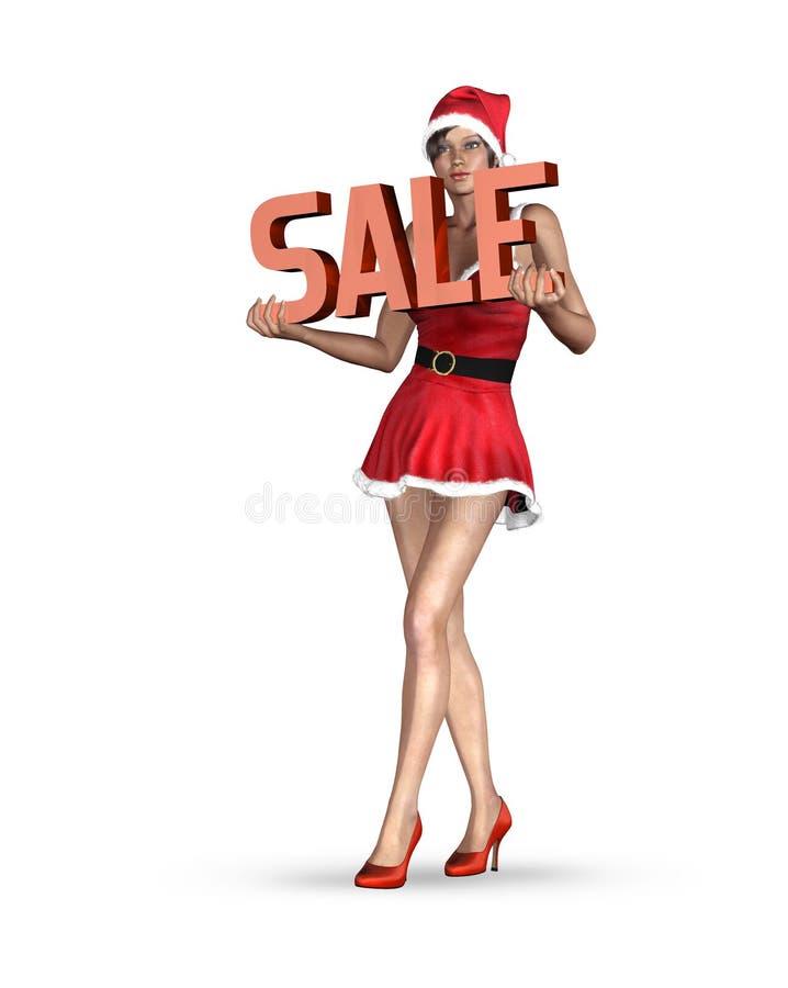 De verkoop van Kerstmis royalty-vrije illustratie