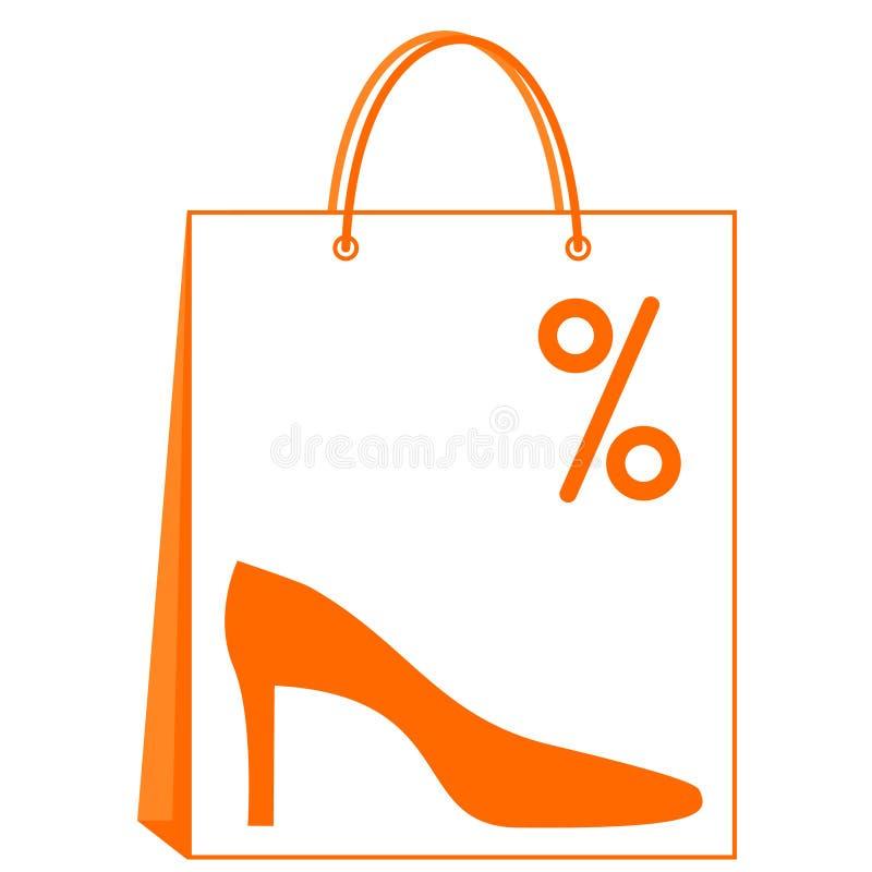 De verkoop van schoenen vector illustratie