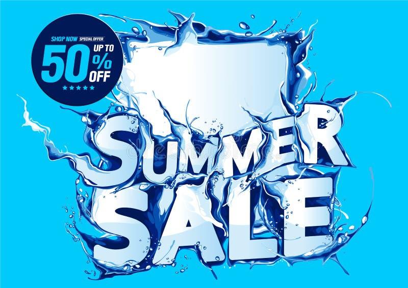 De verkoop van de zomer vector illustratie