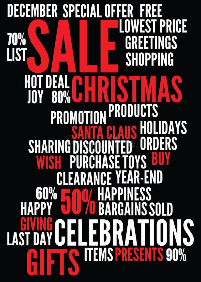 De verkoopachtergrond van Kerstmis stock illustratie