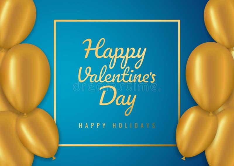 De verkoopachtergrond van de valentijnskaartendag met ballons Vector illustratie Concept voor vliegers, uitnodiging, affiches, br stock fotografie