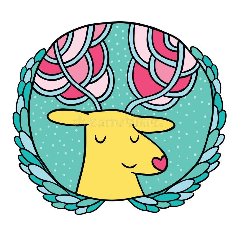 De Verkoopkenteken van Kerstmisherten royalty-vrije illustratie