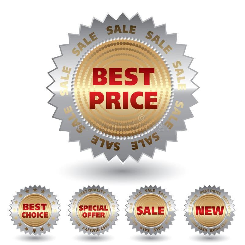 De verkoopstickers van Promo. stock illustratie