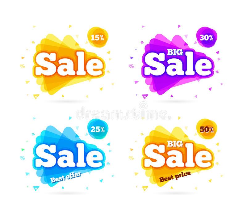 De de verkoopzomer van de Webbanner stock illustratie