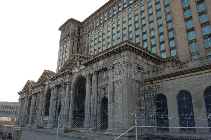 De verlaten Centrale Post Detroit Michigan de V.S. van Michican royalty-vrije stock foto's