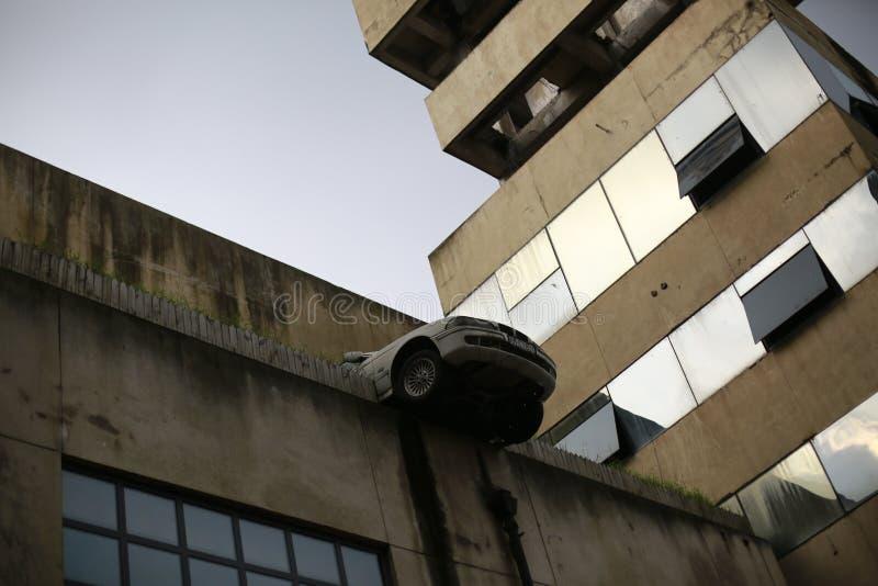 De verlaten fabriek symboliseert de achterstand van de industrie royalty-vrije stock foto