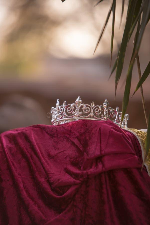 De de verlaten Kroon en Robe van de Koning royalty-vrije stock foto's