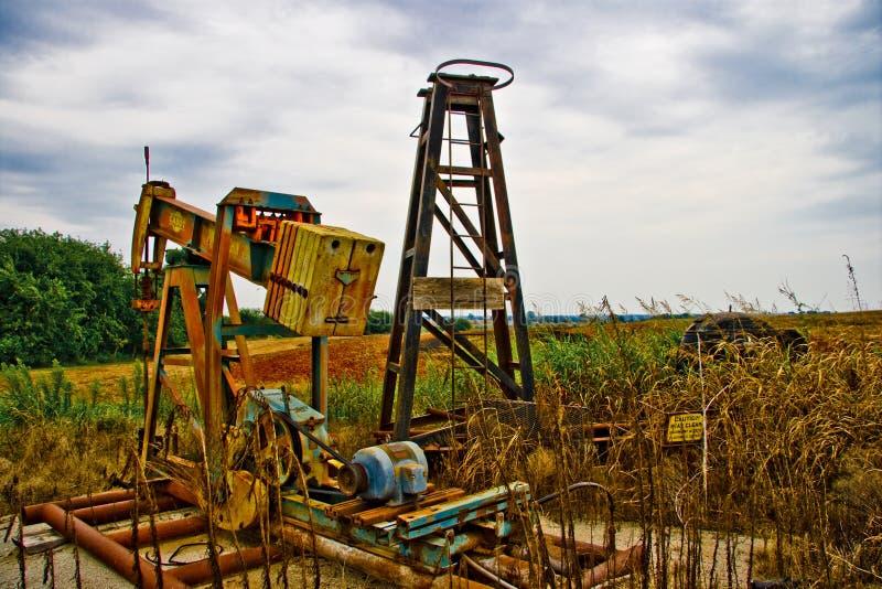 De verlaten Pomp van de Olie royalty-vrije stock foto