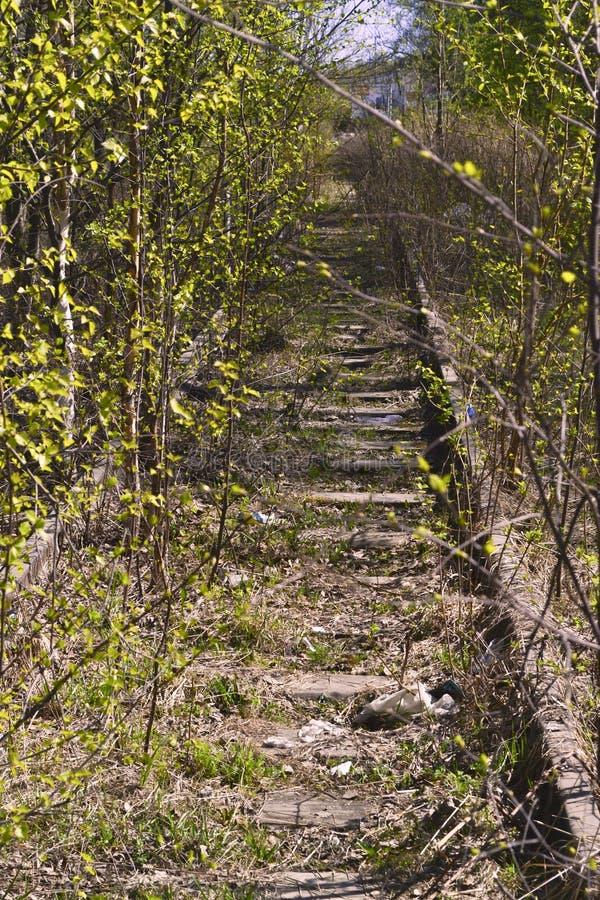 De verlaten spoorweg royalty-vrije stock foto's