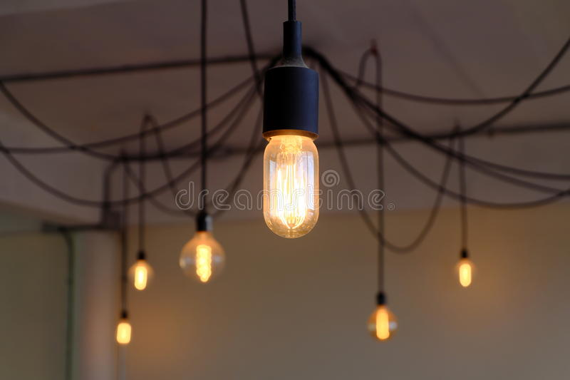 De verlichting van de huisdecoratie stock afbeeldingen