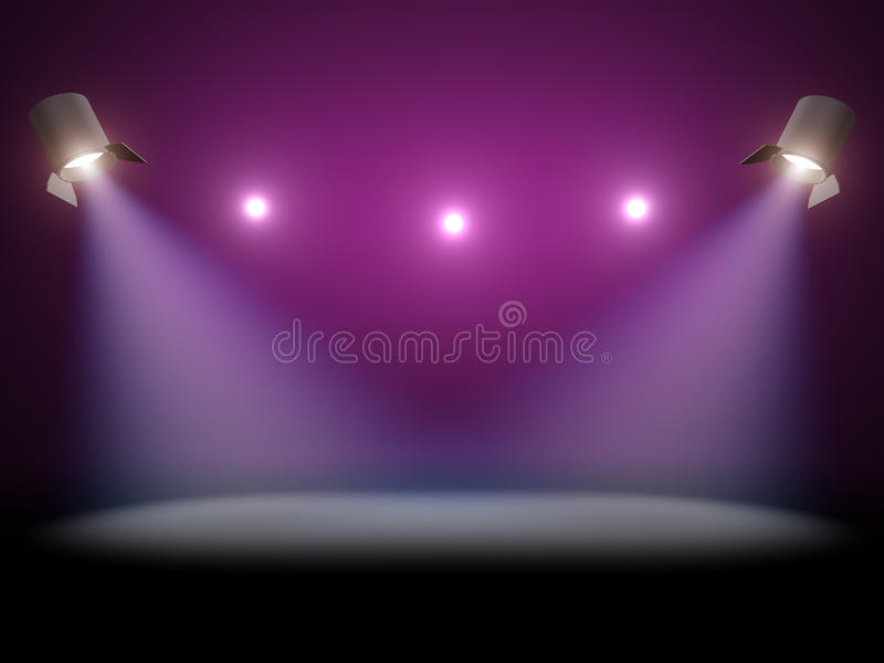 De verlichting van de scène vector illustratie