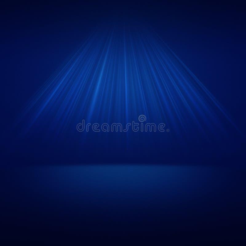 De verlichting van de stadiumvlek over blauwe achtergrond royalty-vrije illustratie