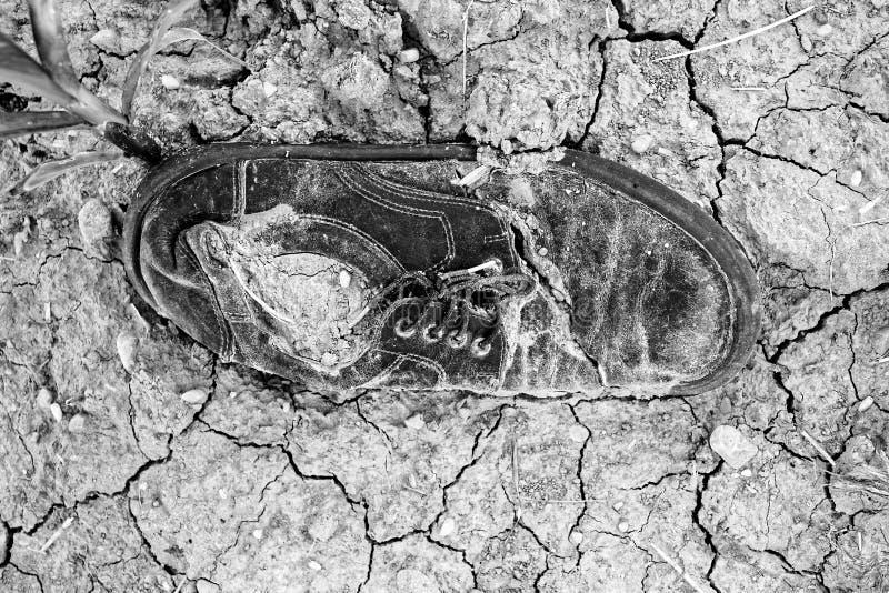 De verloren schoen rotte royalty-vrije stock foto's