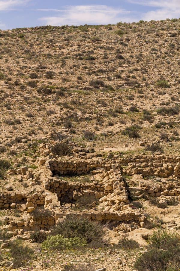 De ` Verloren Stad ` is Ruïnes van een oude de landbouwregeling, israël royalty-vrije stock fotografie