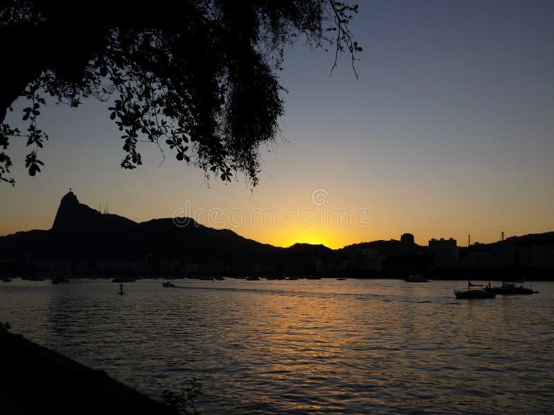 De Verlosserstandbeeld Rio de Janeiro van Corcovadochristus royalty-vrije stock fotografie