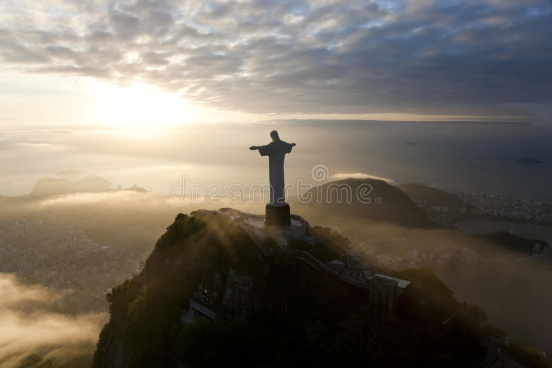 De Verlosserstandbeeld van Christus, Corcovado, Rio de Janeiro, royalty-vrije stock fotografie
