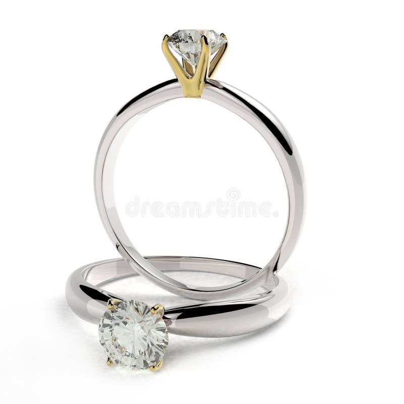 De verlovingsring van het diamantpatience royalty-vrije illustratie