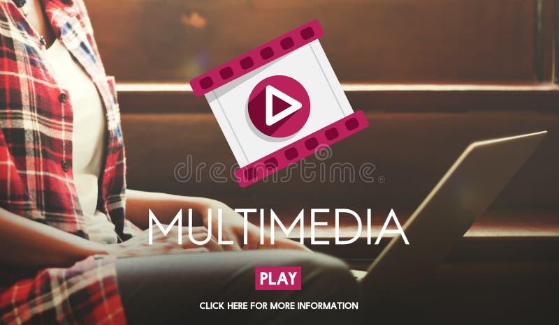 De Vermaakmedia van verschillende media Digitaal Concept royalty-vrije stock afbeeldingen