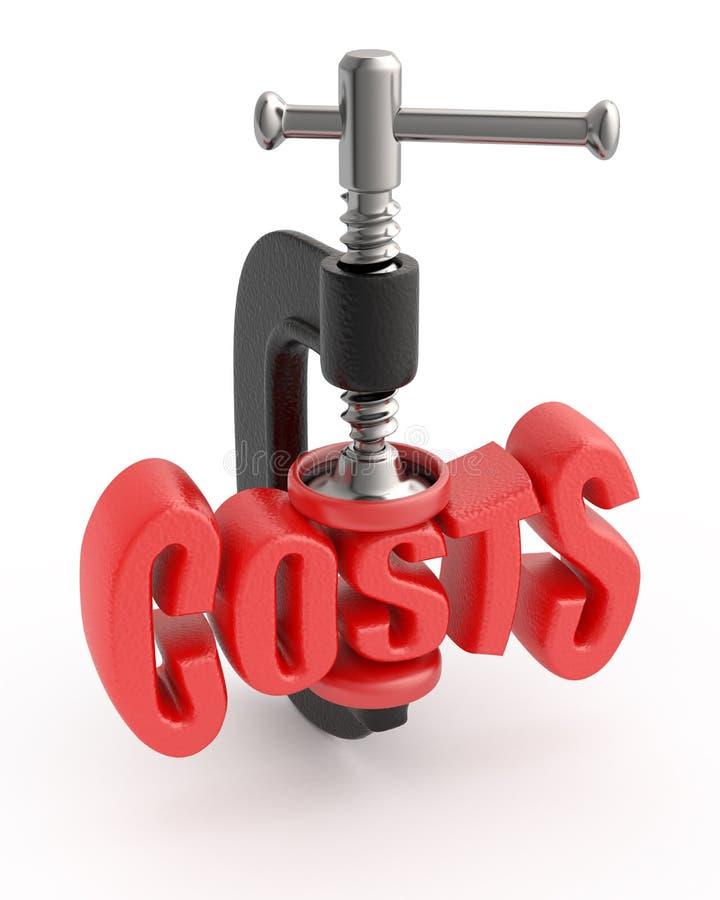 De vermindering van kosten. vector illustratie