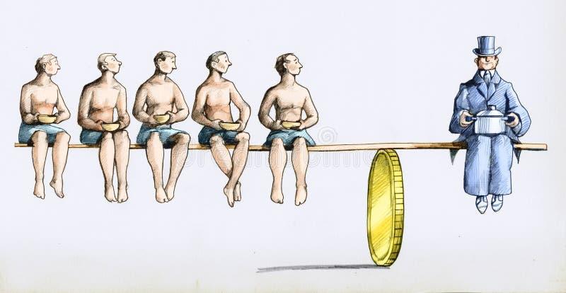 De vermogenssturing op de plaat stock illustratie