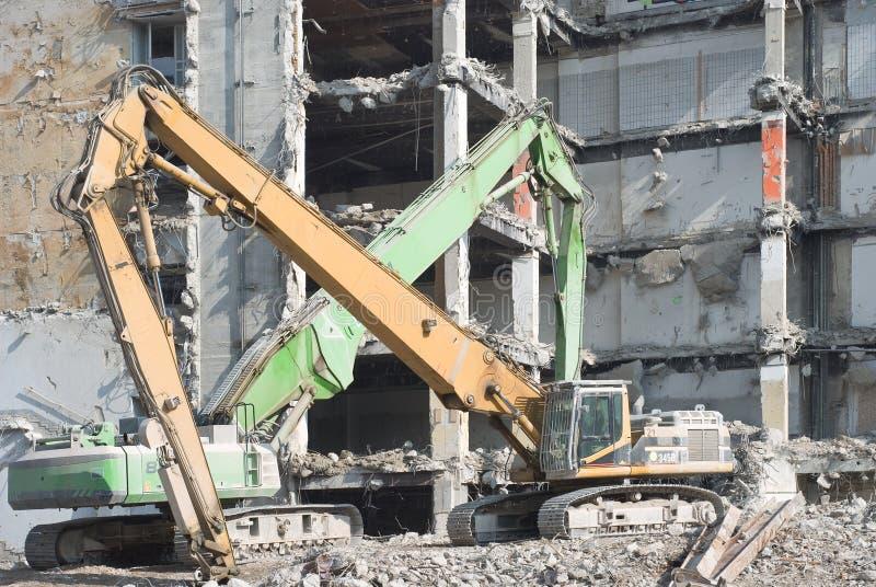 De Vernieling van de bouw stock afbeeldingen