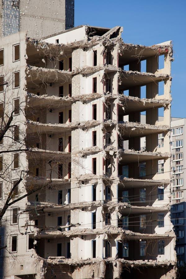 De Vernieling van de bouw stock afbeelding