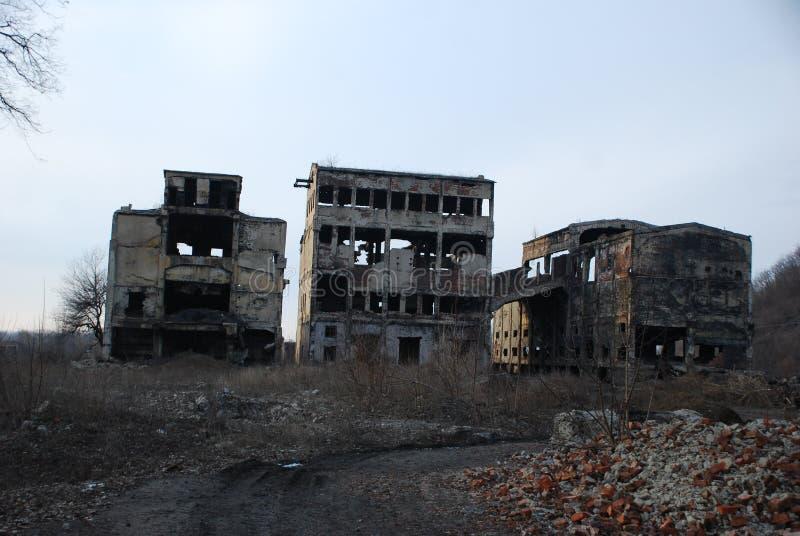 De vernietigde bouw royalty-vrije stock foto