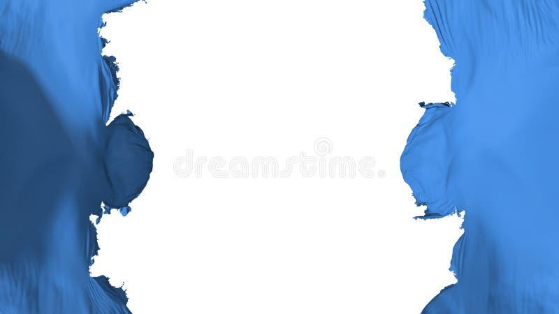 De vernietigde vlag van Somalië stock illustratie