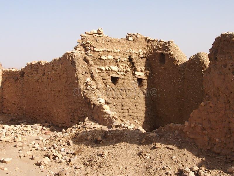 De vernietigde woningen van berbers stock foto