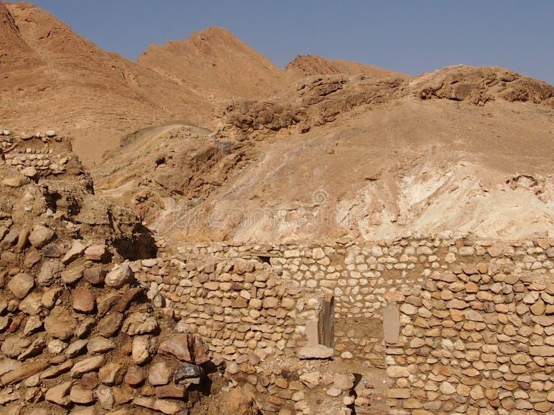 De vernietigde woningen van berbers stock fotografie