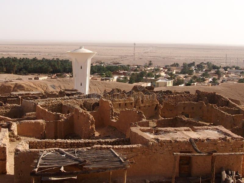 De vernietigde woningen van berbers royalty-vrije stock foto's