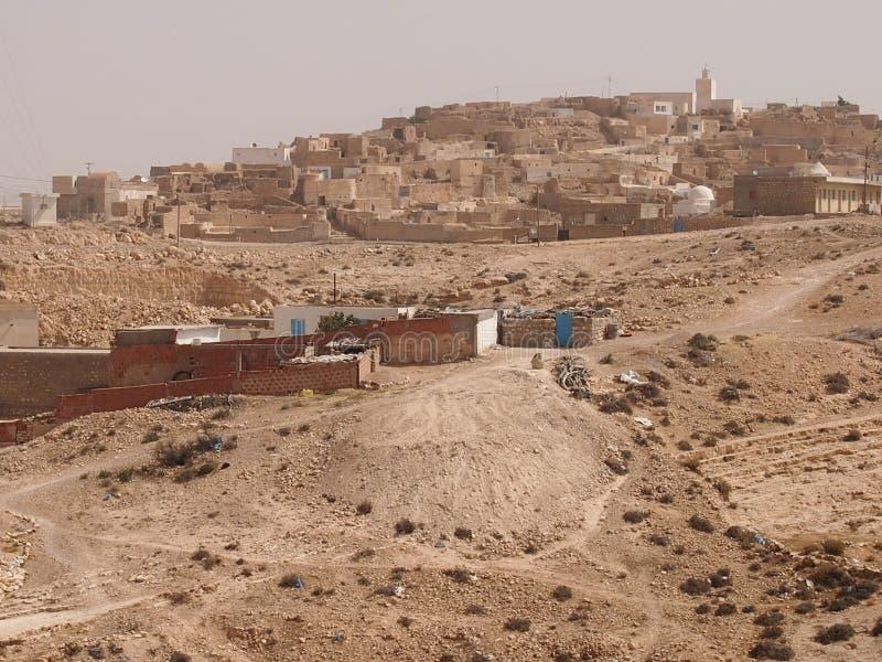 De vernietigde woningen van berbers stock afbeelding