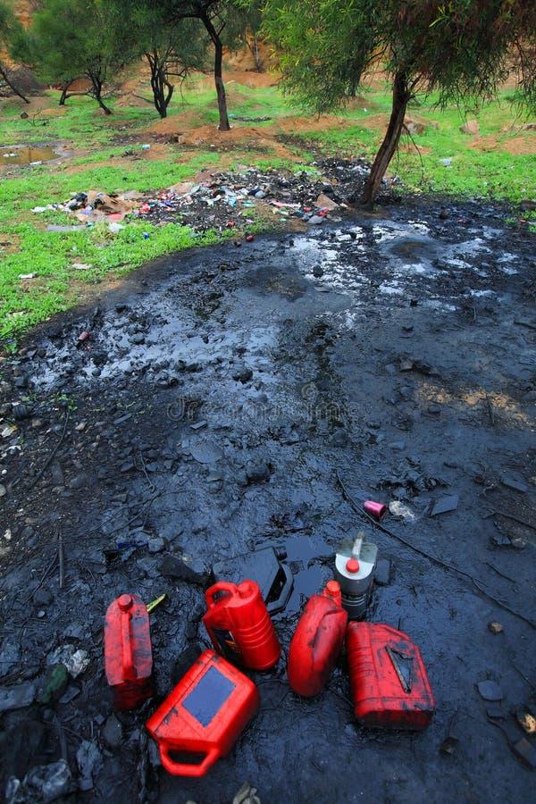 De verontreiniging van de grond stock afbeeldingen