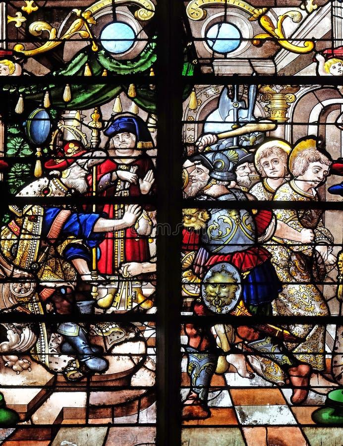 De Veroordeling van Heilige Gervais en Heilige Protais stock foto