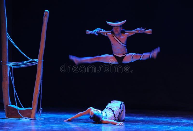 De veroveraars en de veroveren-boodschap in de labyrint-moderne dans-choreograaf Martha Graham stock foto's