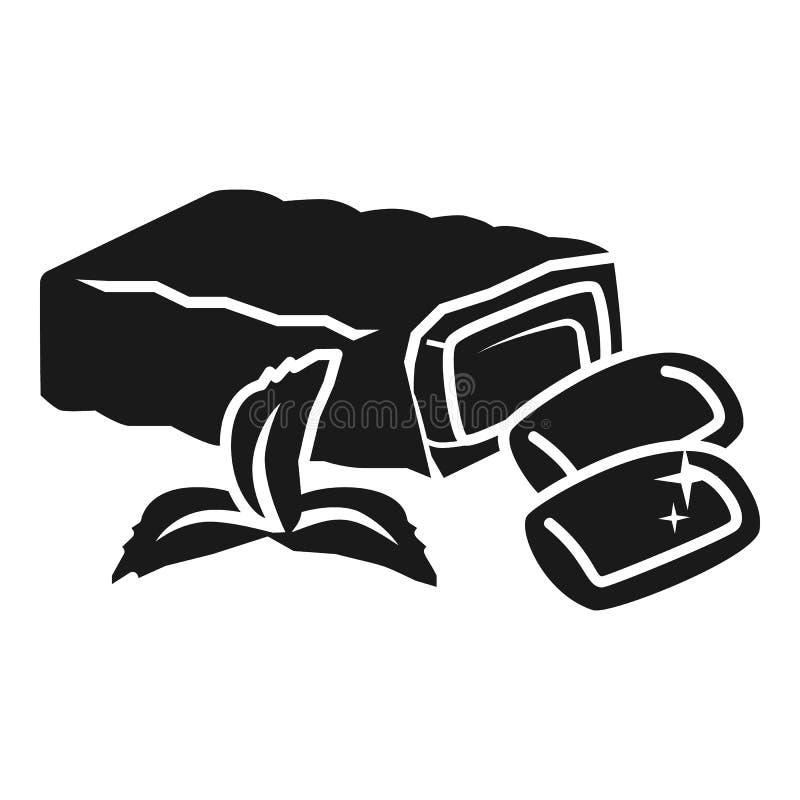 De verpakkingsgom vult pictogram, eenvoudige stijl op royalty-vrije illustratie