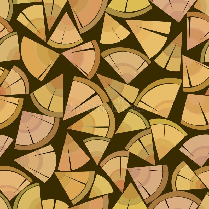 De verpakkingstribune van het brandhout vector illustratie