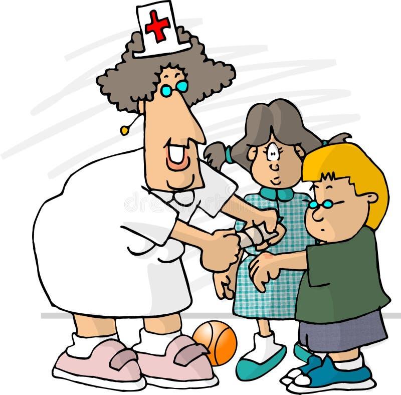Download De Verpleegster Van De School Vector Illustratie - Illustratie bestaande uit dennis, grappig: 39338