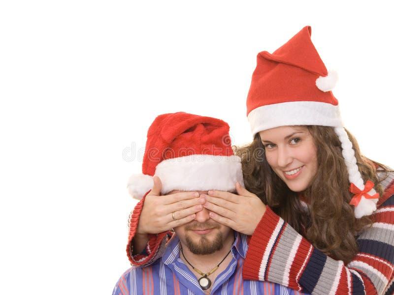 De verrassing van Christmass stock fotografie
