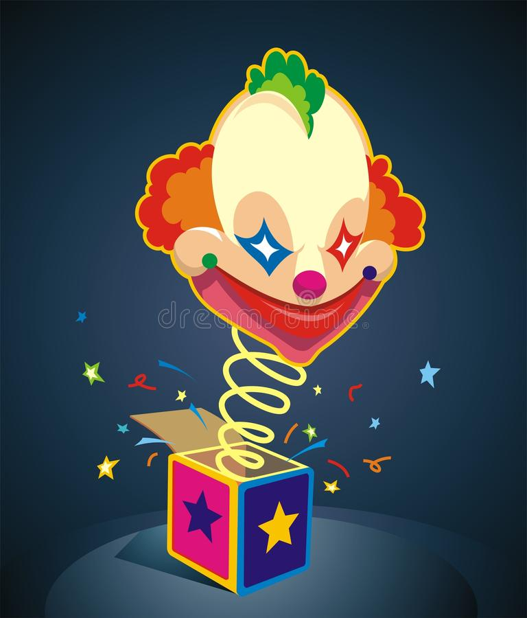 De Verrassing van de clown! stock illustratie
