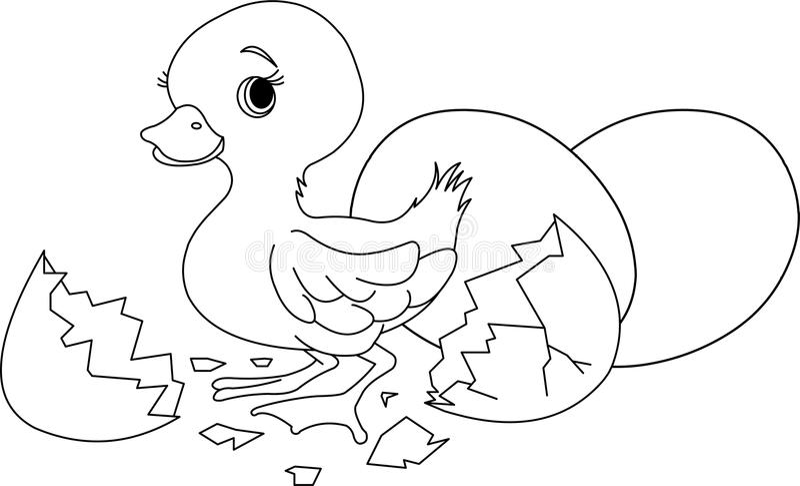 De verrassing van Pasen. Kleurende pagina stock illustratie