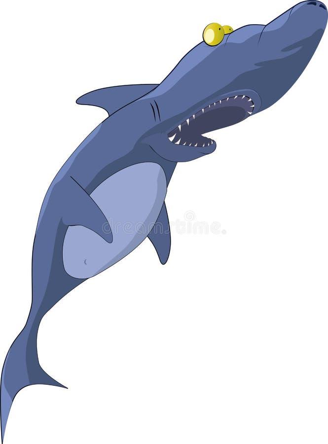 De verraste haai stock illustratie